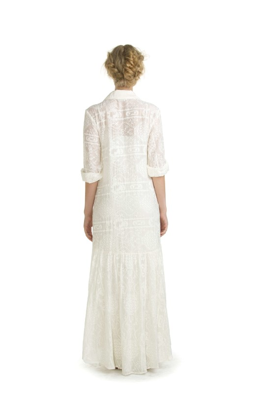 AVALON WHITE EMBROIDERY LONG DRESS