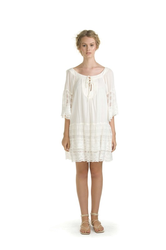 MOLLY CREAM SHORT DRESS