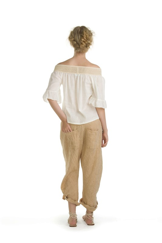 SIERRA CREAM TOP & SUNDAY WHEAT PANT