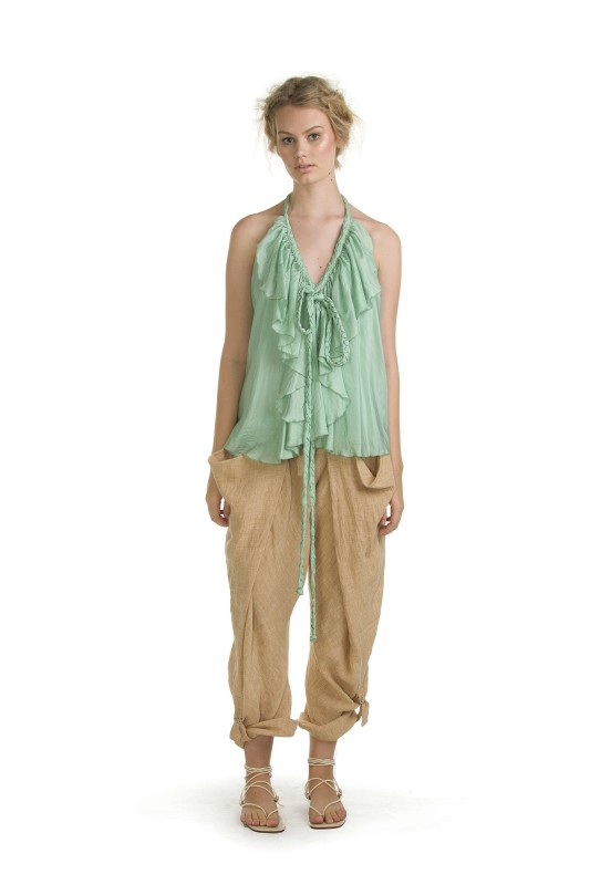 POPPY SEA FOAM TOP & SUNDAY WHEAT PANT