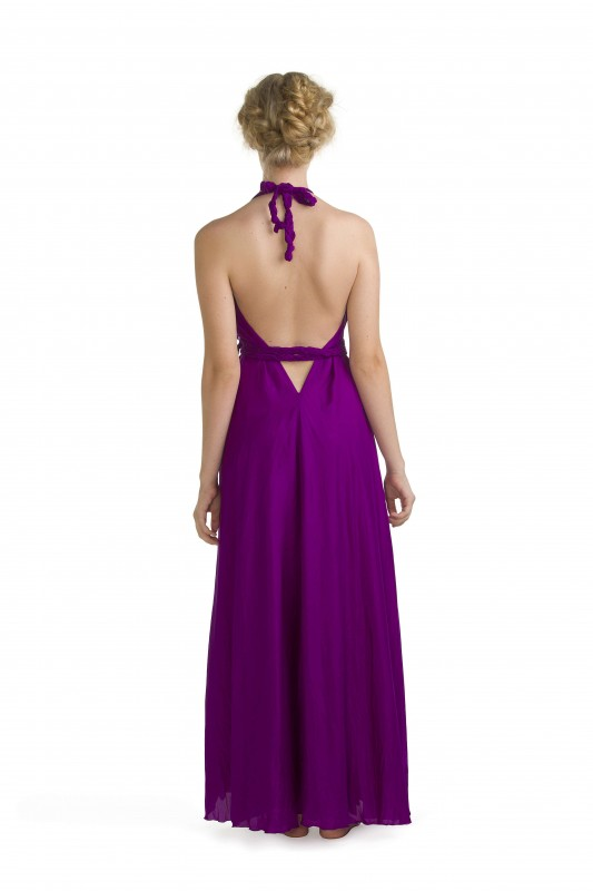 Lisa Brown Signature Style Poppy Dress Amethyst