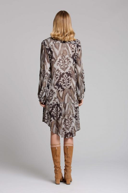 Lisa Brown Sabine Grey Java Short Dress and Long Tan Boots