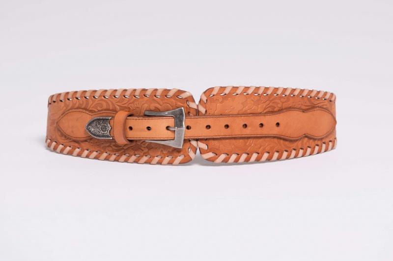 Lisa Brown Tan Vintage Belt